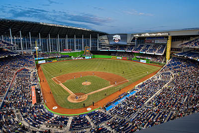 2012 Marlins Park Art Print by Mark Whitt