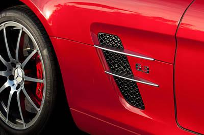 Mercedes Gullwing Photograph - 2012 Mercedes-benz Sls Gullwing Wheel by Jill Reger