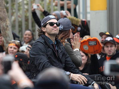 2012 San Francisco Giants World Series Champions Parade - Barry Zito - Img8206 Art Print by Wingsdomain Art and Photography