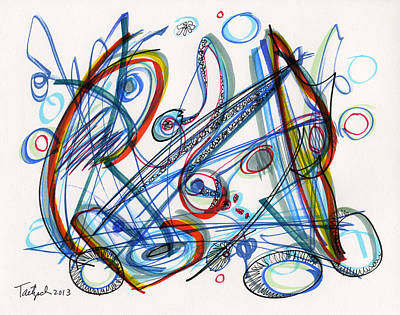 Non-objective Drawing - 2013 Abstract Drawing #12 by Lynne Taetzsch