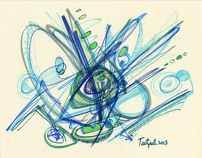 Drawing - 2013 Abstract Drawing #3 by Lynne Taetzsch