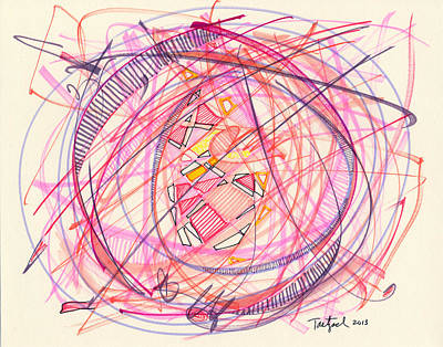 Drawing - 2013 Abstract Drawing #5 by Lynne Taetzsch