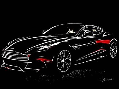 2013 Aston Martin Vanquish Art Print