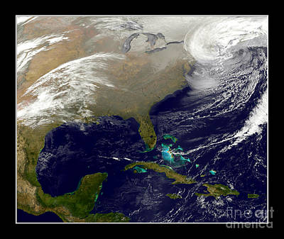 Photograph - 2013 Blizzard In Northeast Nasa by Rose Santuci-Sofranko