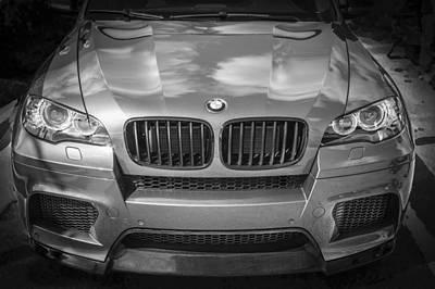 Bmw Racing Car Photograph - 2013 Bmw X6 M Series Bw by Rich Franco