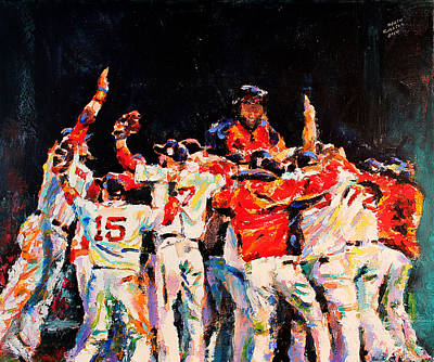 Boston Red Sox Painting - 2013 Boston Red Sox World Series Champions by Derek Russell