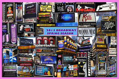 Print featuring the digital art 2013 Broadway Spring Collage by Steven Spak