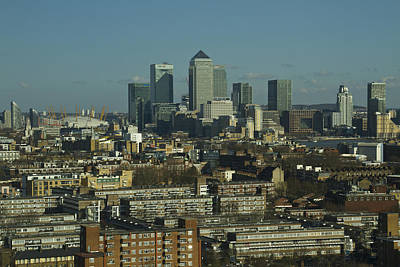 London Skyline Royalty-Free and Rights-Managed Images - 2013 Docklands London Skyline by David French