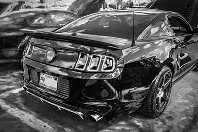 Photograph - 2013 Ford Shelby Boss 302 Coyote Mustang Painted Bw  by Rich Franco