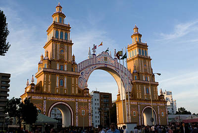 Photograph - 2013 Gateway To Feria De La Seville by Lorraine Devon Wilke