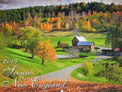 Photograph - 2013 New England Calendar - Cover Art by Expressive Landscapes Nature Photography