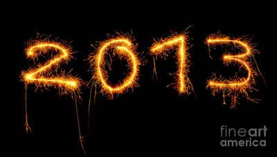 2013 Calendar Photograph - 2013 New Year by Anna Om