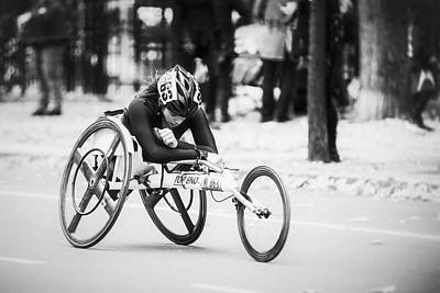 Photograph - 2013 Nyc Marathon Wheelchair Division by Eduard Moldoveanu