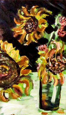 Painting - 2013 Sunflowers 3 by Denny Morreale