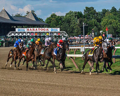 Animals Royalty-Free and Rights-Managed Images - 2013 Whitney Stakes by William Stephen