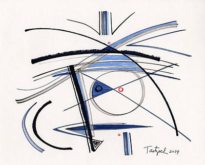 Drawing - 2014 Abstract Drawing #1 by Lynne Taetzsch