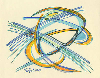Drawing - 2014 Abstract Drawing #4 by Lynne Taetzsch
