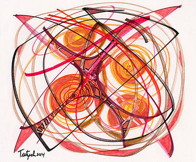 Drawing - 2014 Abstract Drawing #5 by Lynne Taetzsch