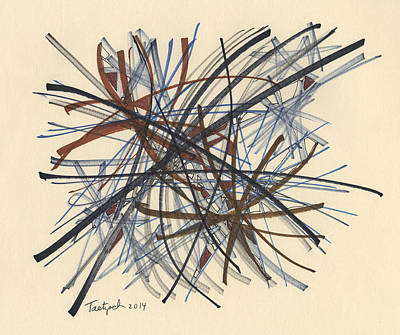 Drawing - 2014 Abstract Drawing #8 by Lynne Taetzsch