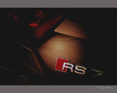 2014 Audi Rs7 Logo Rear Art Print