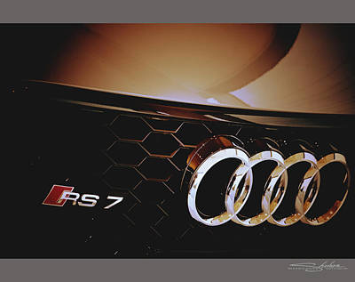 Photograph - 2014 Audi Rs7 Logo by Shehan Wicks