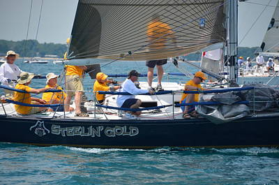 Photograph - 2014 Bells Beer Mackinac Race by Randy J Heath