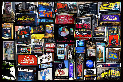 Photograph - 2014 Broadway Spring Season Collage by Steven Spak