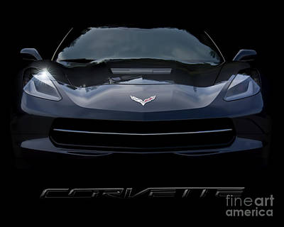 Photograph - 2014 Corvette With Emblem by Ken Johnson