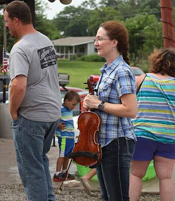 Photograph - 2014 Fiddling Contest by Kathy Cornett