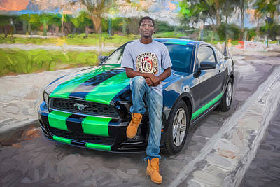 Photograph - 2014 Ford Mustang Painted    by Rich Franco