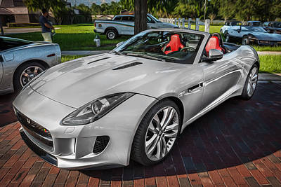 Jaguar F-type Photograph - 2014 Jaguar F Type V8 Convertible Painted   by Rich Franco