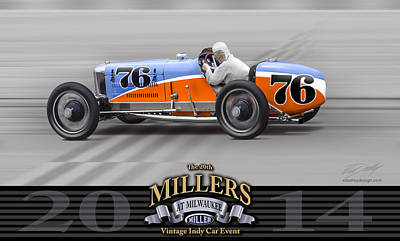 At Poster Digital Art - 2014 Millers At Milwaukee Event Unofficial by Ed Dooley