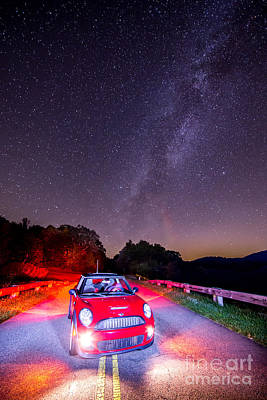 Sports Car Photograph - 2014 Mini Cooper With The Milky Way by Robert Loe