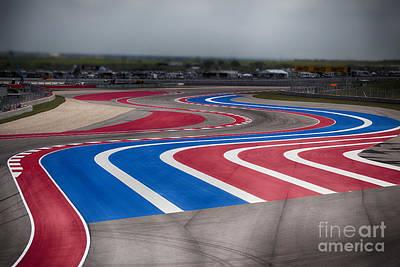 2014 Motogp Red Bull Grand Prix Of The Americas Track Art Print by Douglas Barnard