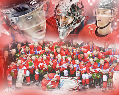 2014 Team Canada Art Print by Mike Oulton