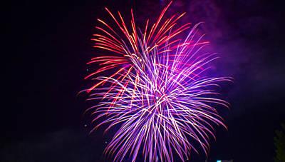 Fairmont Photograph - 2014 Three Rivers Festival Fireworks Fairmont Wv 11 by Howard Tenke