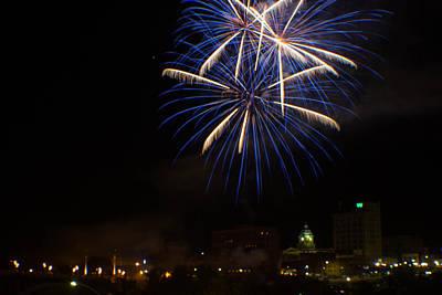 Fairmont Photograph - 2014 Three Rivers Festival Fireworks Fairmont Wv 4 by Howard Tenke