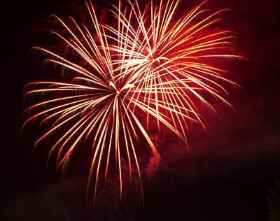 2014 Three Rivers Festival Fireworks Fairmont Wv 5 Art Print by Howard Tenke