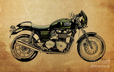 Digital Art - 2014 Triumph Thruxton by Pablo Franchi
