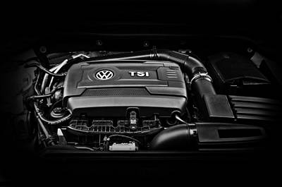 Photograph - Volkswagen 1.8-liter Turbo Engine by Gary Silverstein
