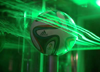 Aerodynamics Photograph - 2014 World Cup Football Aerodynamics by Ames Research Center/nasa