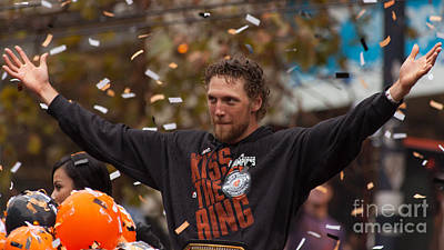 Hunter Pence Photograph - 2014 World Series Champions San Francisco Giants Dynasty Parade Sergio Romo 5d29766 by Wingsdomain Art and Photography