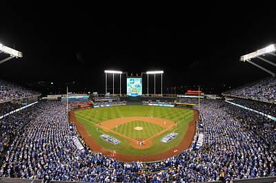 Photograph - 2014 World Series Game 1 San Francisco by Mlb Photos