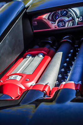 Photograph - 2015 Bugatti Veyron Legend Engine -0460c by Jill Reger