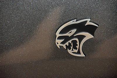 2015 Dodge Challenger Srt Hellcat Emblem Art Print
