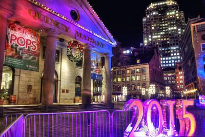 Photograph - 2015 New Year In Quincy Market - Boston by Joann Vitali
