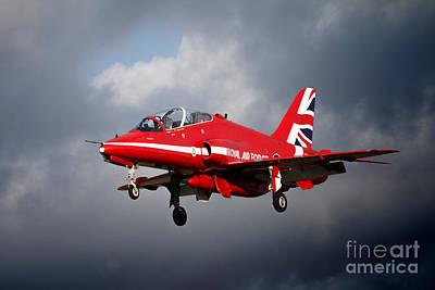 Red Tail Hawk Digital Art - 2015 Red Arrows  by J Biggadike