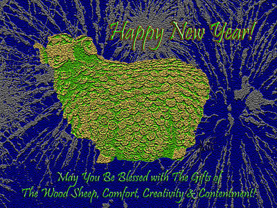 Blue Hues - 2015 Year of The Green Wood Sheep by Michele Avanti