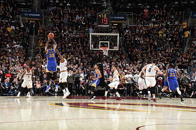 Ohio Photograph - 2017 Nba Finals - Game Three by Andrew D. Bernstein