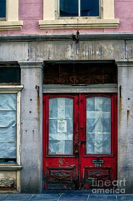 Photograph - 204 Old Red Door Nola by Kathleen K Parker